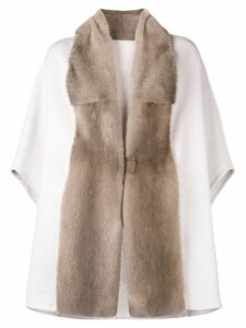 Liska oversized cape coat - Neutrals