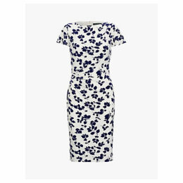 Lauren Ralph Lauren Rigley Short Sleeve Dress, Ivory/Cannes Blue