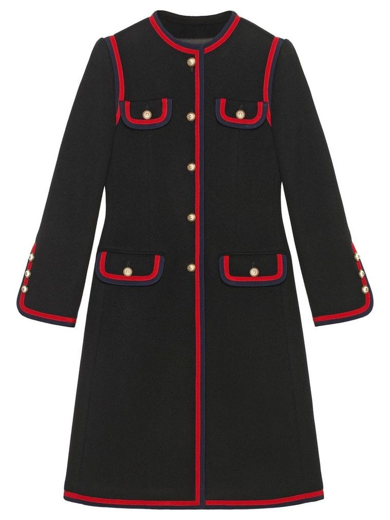Gucci wool coat - Black