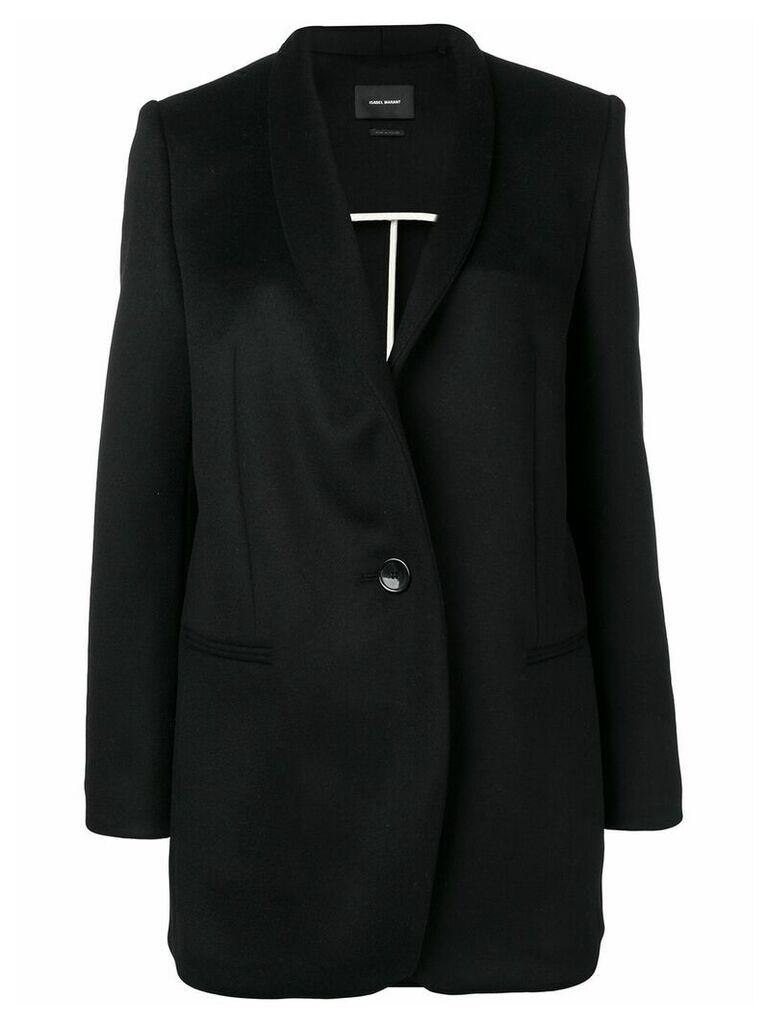 Isabel Marant single-breasted fitted coat - Black