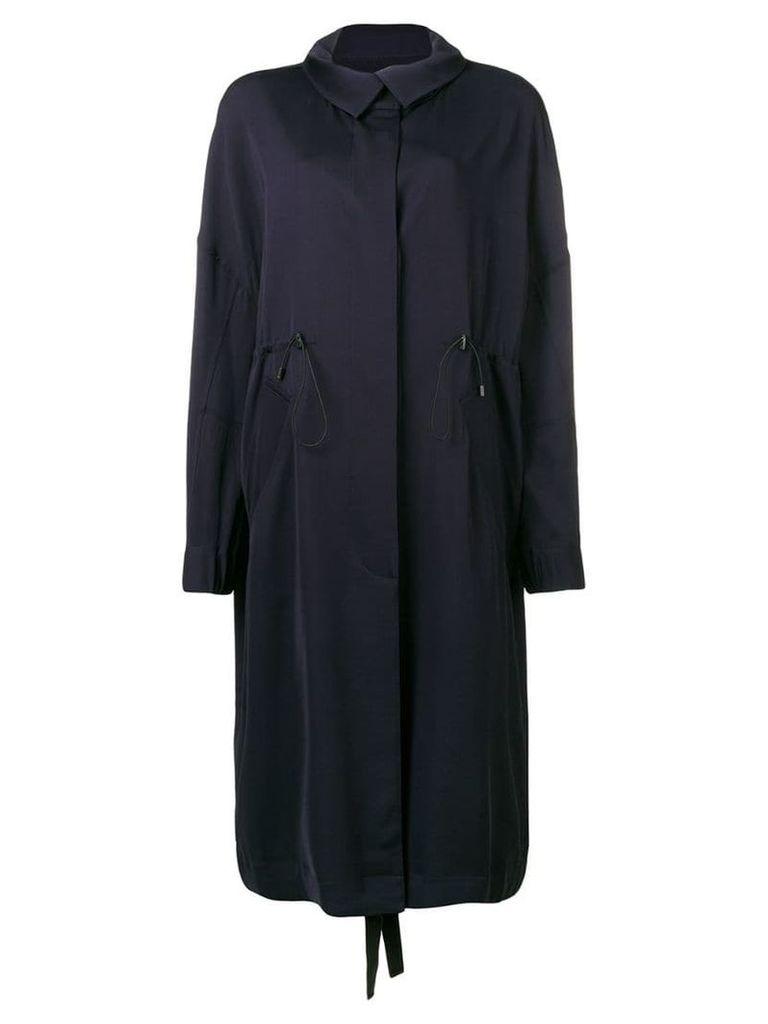 Christian Wijnants loose long raincoat - Blue