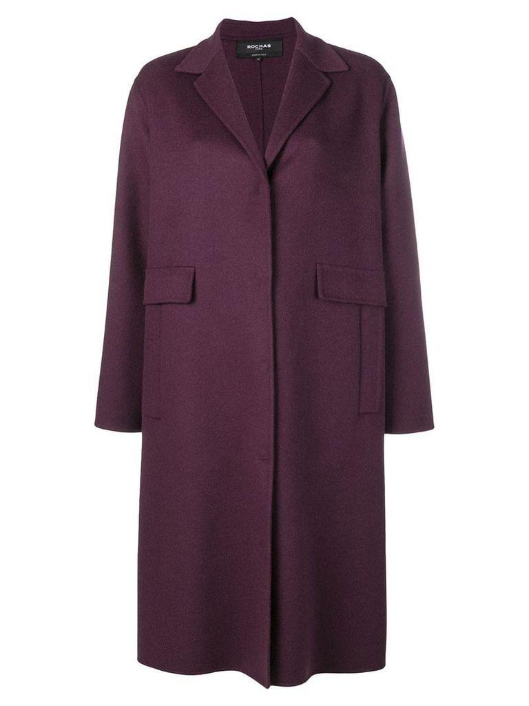 Rochas single breasted coat - PURPLE