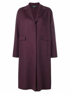 Rochas single breasted coat - Purple