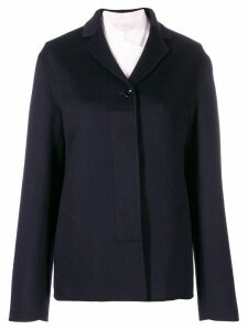 Jil Sander shor cashmere coat - Blue