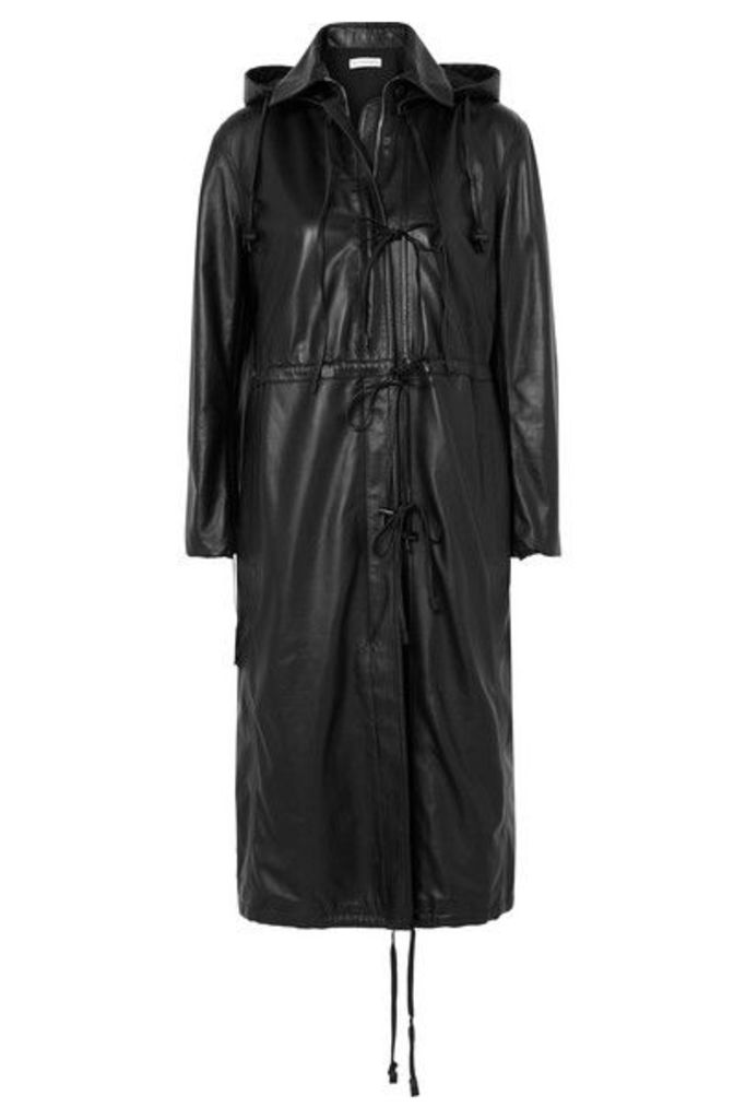 Altuzarra - Marina Hooded Leather Coat - Black