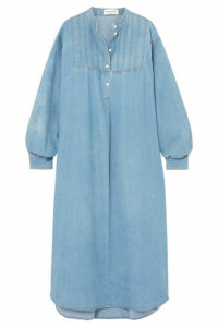 Sonia Rykiel - Oversized Cotton-blend Chambray Midi Dress - Blue