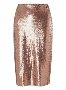 Womens **Petite Vero Moda Copper Pencil Skirt- Copper, Copper