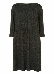 Womens **Dp Curve Grey 3/4 Sleeve Shift Dress- Grey, Grey