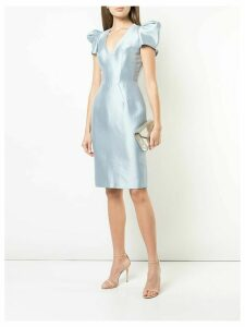 Rubin Singer structured shoulder cocktail dress - Blue