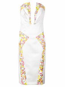 Rubin Singer strapless cocktail dress - White