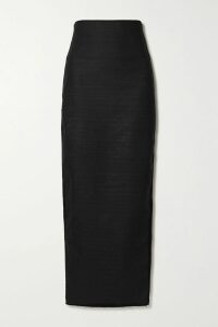 Erdem - Hilma Pussy-bow Polka-dot Tulle-trimmed Ponte Dress - Black