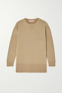 Loewe - Cape-effect Leather-trimmed Houndstooth Wool Blazer - Gray