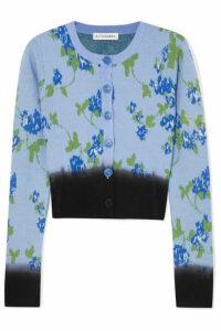 Altuzarra - Zannone Cropped Floral-intarsia Wool Cardigan - Blue