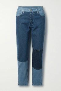 Self-Portrait - Cold-shoulder Floral-print Satin Midi Dress - Red