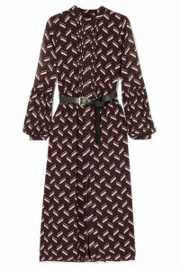 MICHAEL Michael Kors - Pintucked Printed Crepe Midi Dress - Purple