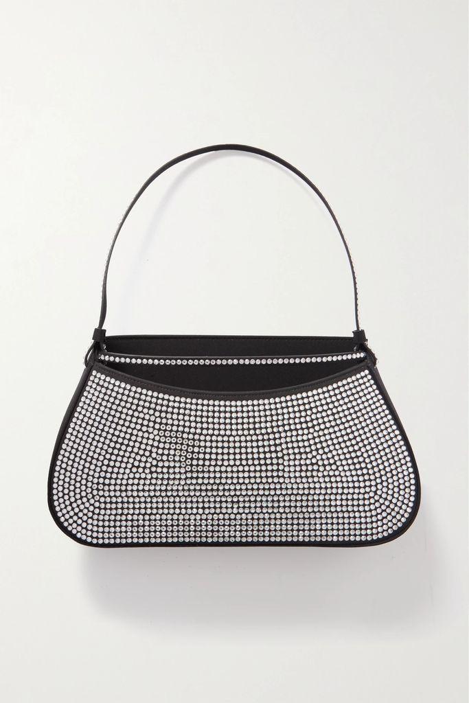 Dolce & Gabbana - Off-the-shoulder Polka-dot Metallic Fil-coupé Silk-blend Chiffon Gown - Black