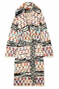 Missoni - Belted Wool-blend Coat - White