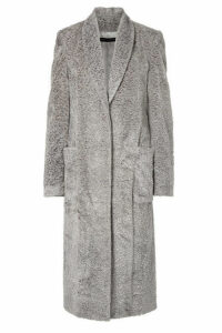 Sally LaPointe - Faux Fur Coat - Gray