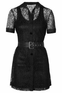 Alexander Wang - Belted Lace Mini Dress - Black