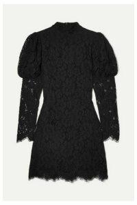 GANNI - Lace Mini Dress - Black