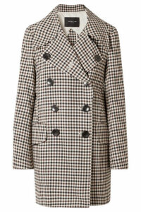 Derek Lam - Double-breasted Gingham Woven Coat - Brown