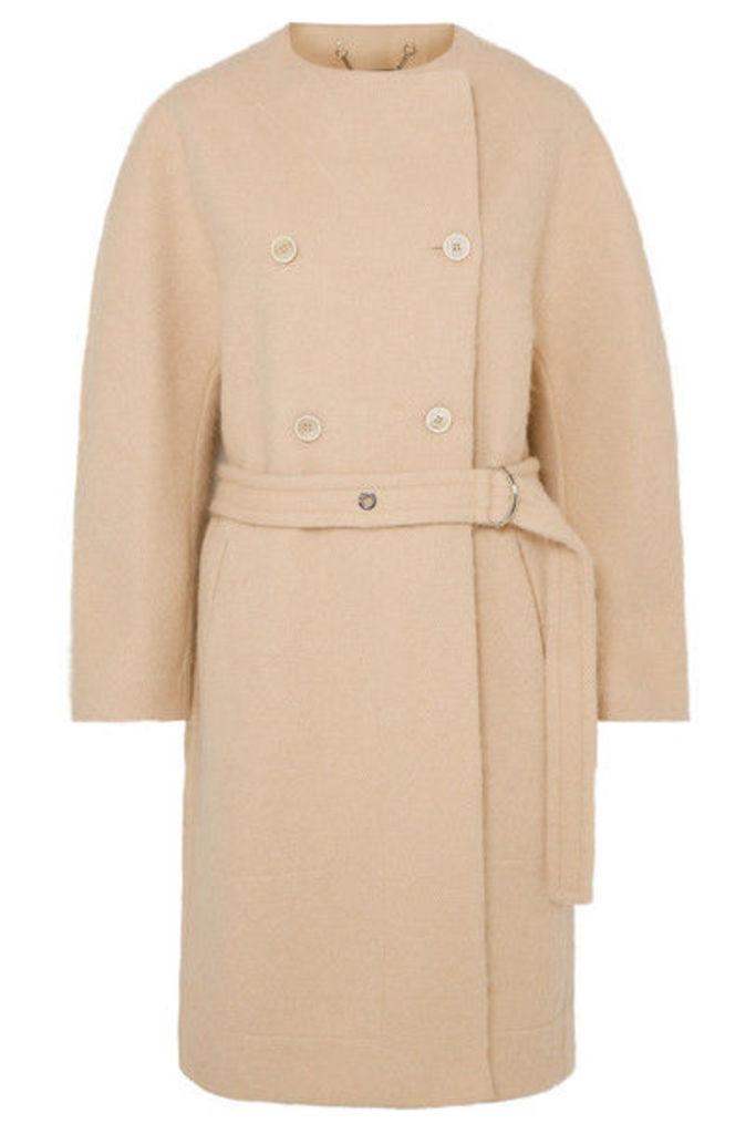 Chloé - Belted Wool-blend Grain De Poudre Coat - Beige
