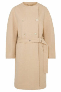 Chloé - Belted Wool-blend Grain De Poudre Coat - Beige