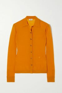 Chloé - Belted Double-breasted Wool-blend Felt Coat - Navy