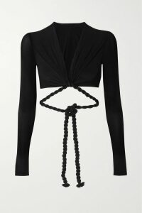 Paco Rabanne - + Guy Cotten Pvc-blend Trench Coat - Black