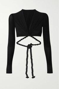 Paco Rabanne - + Guy Cotten Pvc-blend Trench Coat - Black