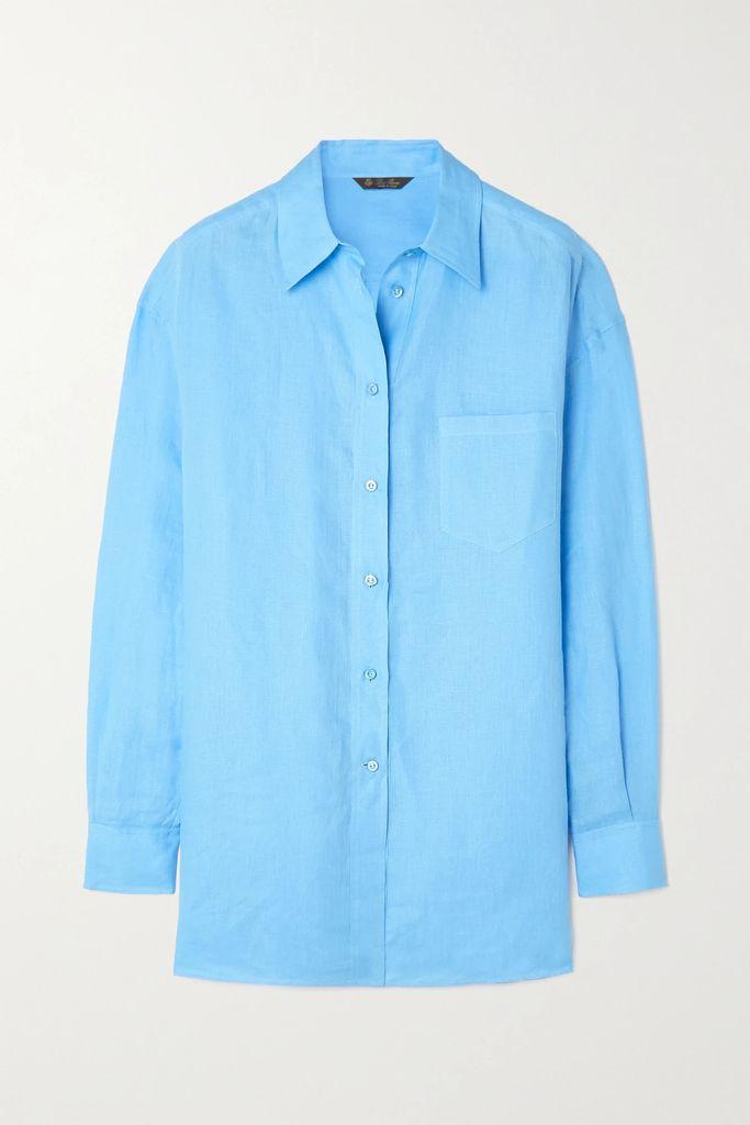GANNI - Checked Brushed-felt Coat - Gray