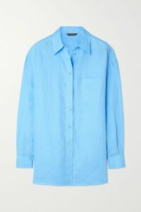 GANNI - Checked Brushed-felt Coat - Gray