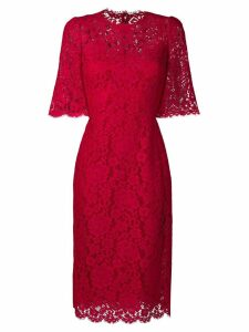Dolce & Gabbana floral lace dress - Red