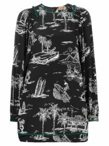 Nº21 Island print dress - Black