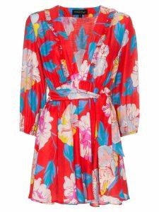 A Peace Treaty Talla V-neck belted mini dress - Red