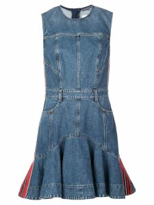 Alexander McQueen denim flared dress - Blue