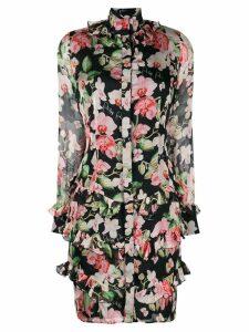 Philipp Plein floral print short dress - Black