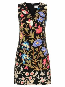 Peter Pilotto floral print V-neck mini dress - Black