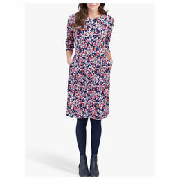 Joules Beth Ponte Jersey Dress, Navy Ditsy