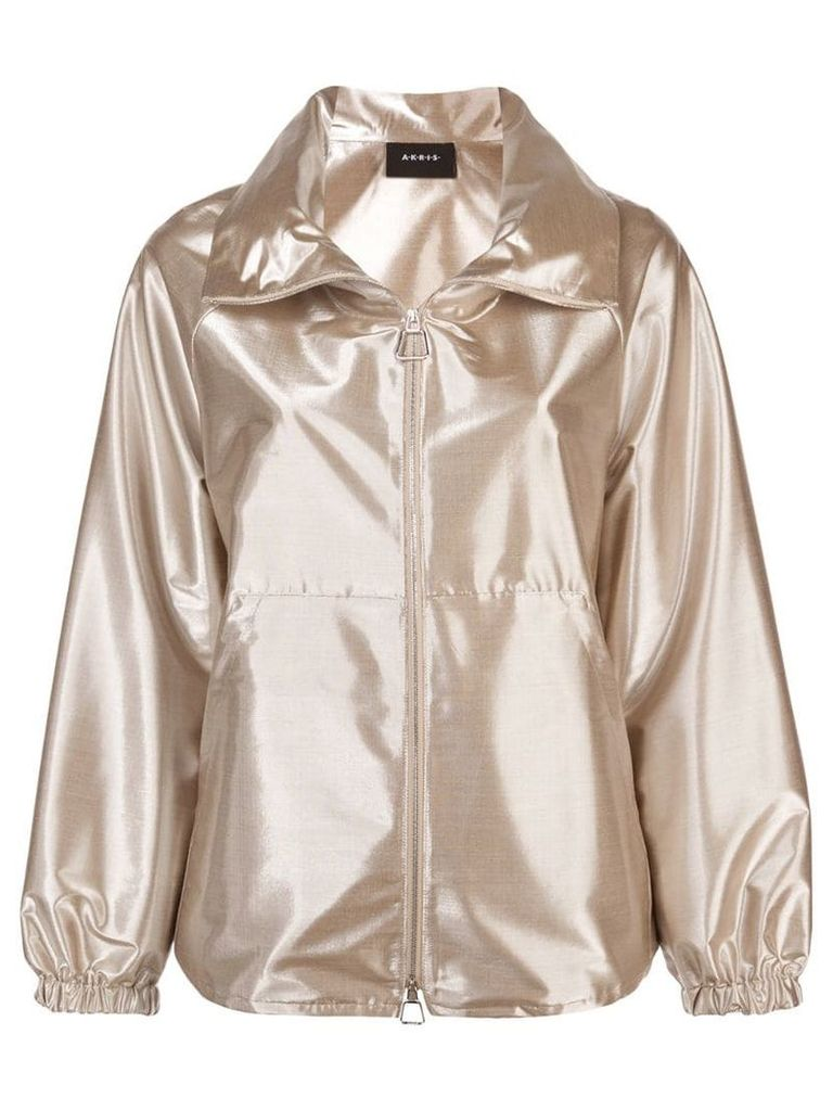 Akris metallic bomber jacket