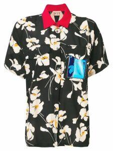Nº21 contrasting collar blouse - Black