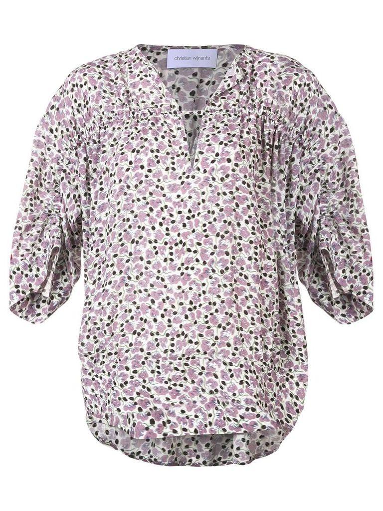 Christian Wijnants Flower blouse - Pink