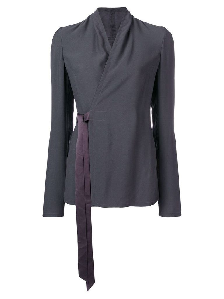 Rick Owens wrapped-front blouse - Grey