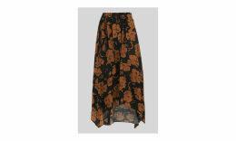 Ari Hibiscus Belted Skirt