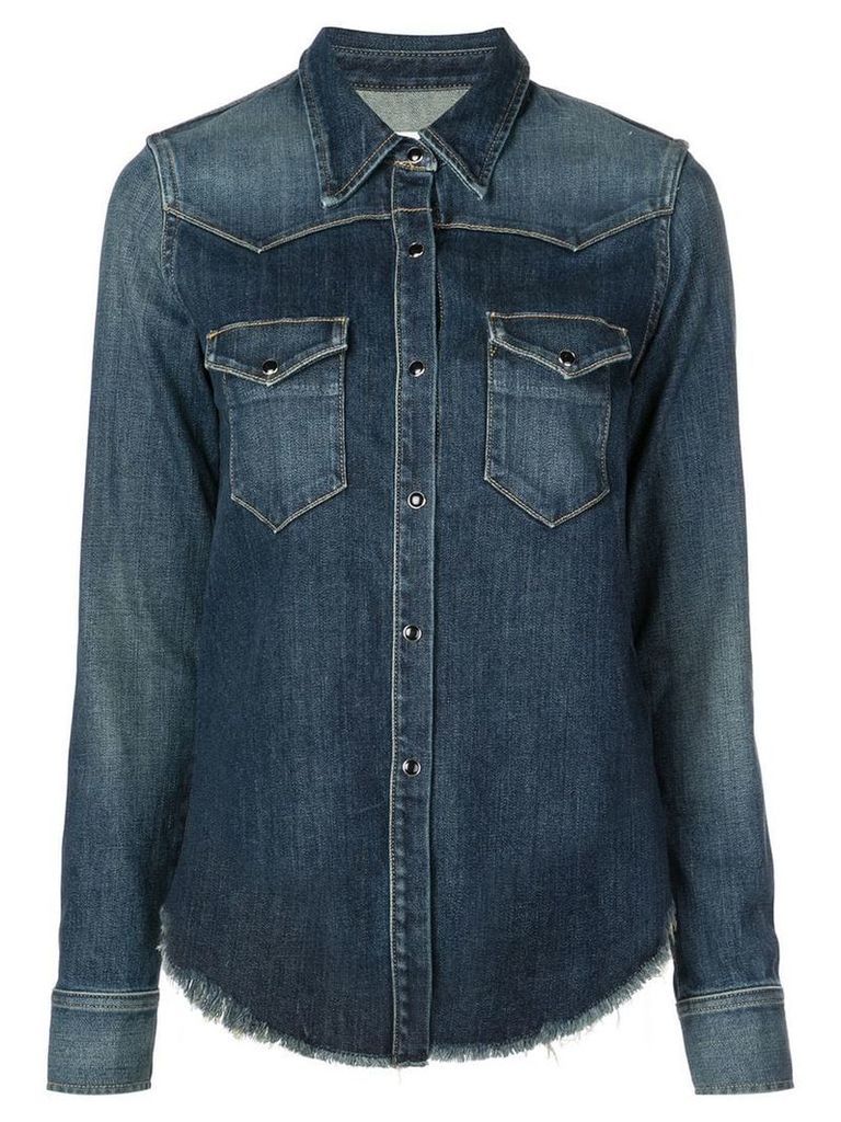 Nili Lotan button denim shirt - Blue