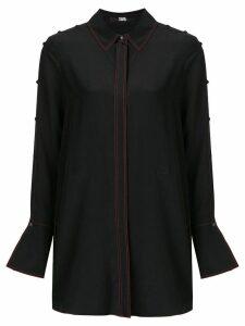 Karl Lagerfeld button detailed tunic shirt - Black