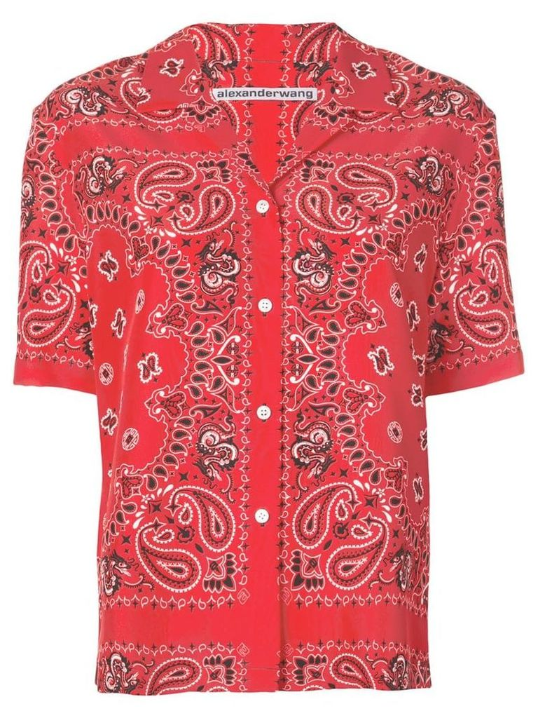 Alexander Wang bandana print shirt - Red