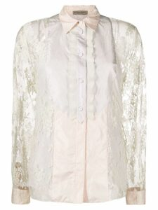 Bottega Veneta floral lace shirt - Neutrals