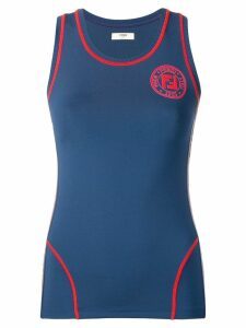 Fendi logo fitted vest top - Blue