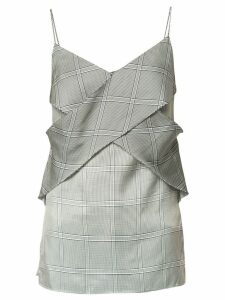 Dion Lee houndstooth print slip top - Blue